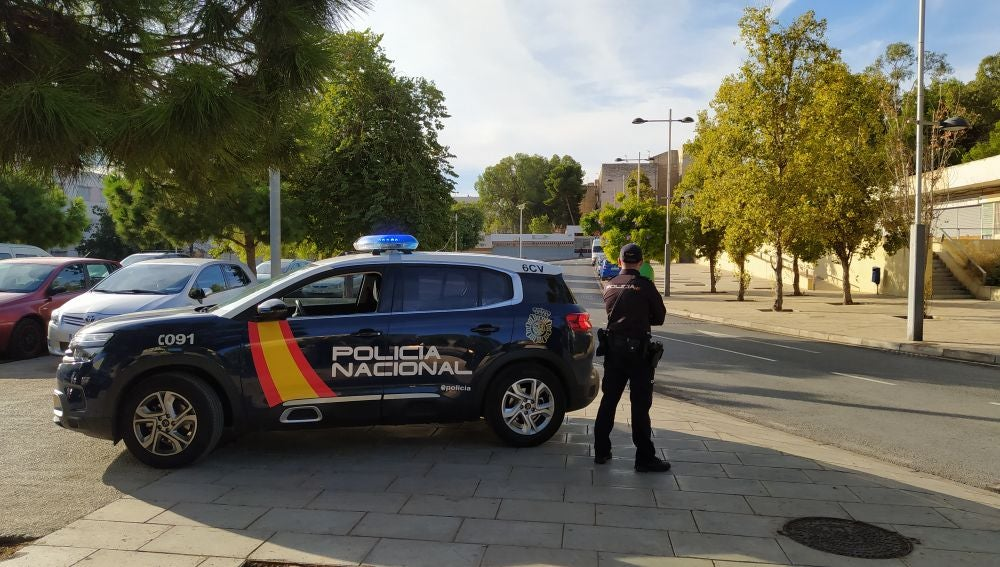 Un control de la Policía Nacional en Alicante