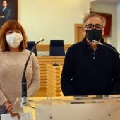 Matilde Hinojosa y Pedro Maroto