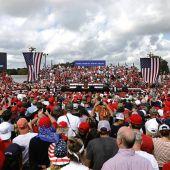 Mitin de Donald Trump en Florida.