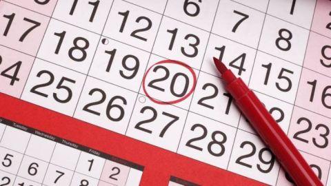Imagen de archivo de un calendario.
