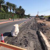 Obras de desdoblamiento de la carretera Elche-Santa Pola.