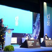 El president de la Generalitat, Ximo Puig durant la intervenció en l´Auditori Municipal.
