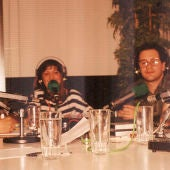 Informativo local (1990):  De izquierda a derecha: César Cid Luis Serrano, Mercedes Albelda Paco Paniagua, Ana Cristina Martín