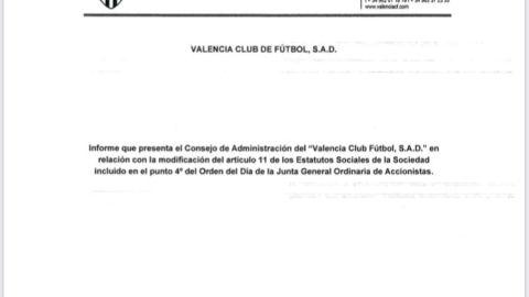 Peter Lim concedió al Valencia un préstamo de 16,5 millones de euros