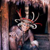 Miembro de la tribu de los Dani en Papúa