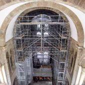 Obras en el interior de la Catedral de Santiago