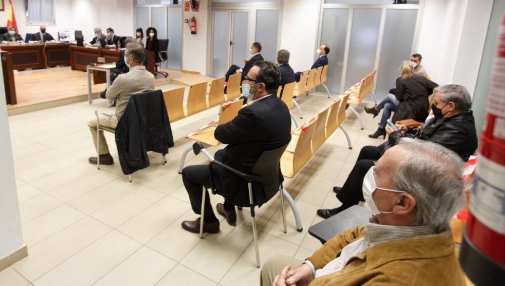 Los nueve acusados en la última jornada del juicio