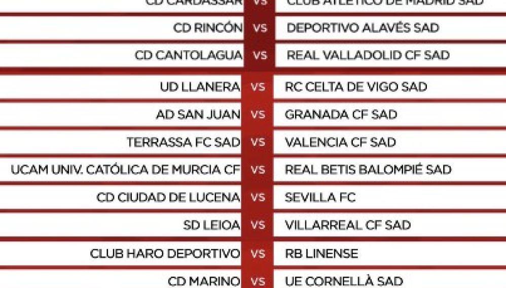 Buñol-Elche, Racing Murcia-Levante y Terrassa-Valencia en Copa del Rey