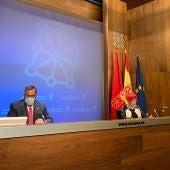 Rueda de prensa del Gobierno de Navarra