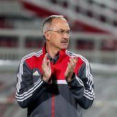El entrenador del Real Madrid, Uli Stielike