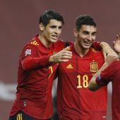 El delantero de la Selección Española, Álvaro Morata.