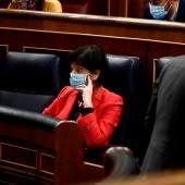 Isabel Celaá durante el debate de la ley educativa