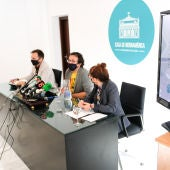 El alcalde, Carlos Paradas y Monte Mures en rueda de prensa