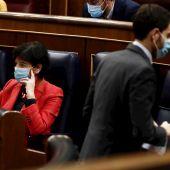 Isabel Celaá, durante el pleno de debate de la nueva ley de Educación