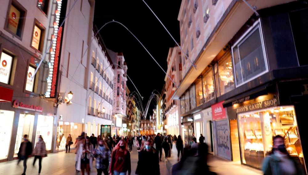 Imagen de la calle Preciados, en Madrid