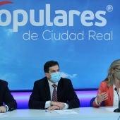 Rodríguegz, Valverde y Merino durante la rueda de prensa