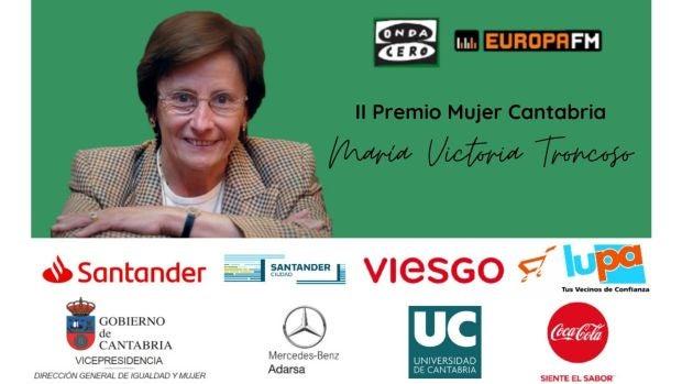 Onda Cero Cantabria concede el Premio Mujer Cantabria 2020 a María Victoria Troncoso