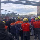 Concentración de trabajadores de Arcelor