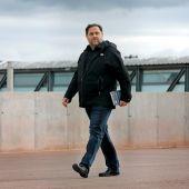 El exvicepresidente de la Generalitat Oriol Junqueras, en su primera salida de la cárcel de Lledoners.