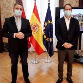 Reunión entre José Manuel Franco e Ignacio Vázquez
