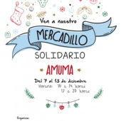 Cartel del mercadillo solidario de AMUMA