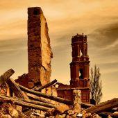 Imagen de las ruinas de Belchite, donde tuvo lugar una de las batallas de la Guerra Civil española