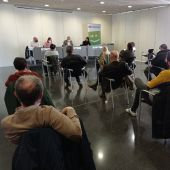 Reunión de Joan Baldoví en Elche con entidades sociales.