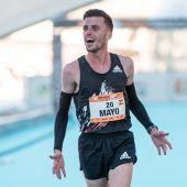 Carlos Mayo en la maratón de Valencia