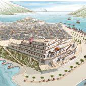 Reconstrucción idealizada del palacio de Asdrúbal