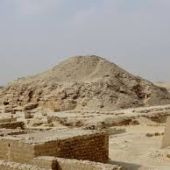 Pirámide de Unis en la región de Saqqara