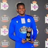 Uche Agbo, jugador Estrella Galicia noviembre 2020