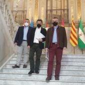 Carlos Martín de la Leona, Leopoldo Sierra y Adrián Fernández en la Diputación de Ciudad Real