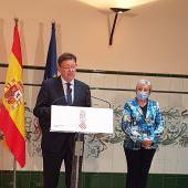 Ximo Puig y la consellera de Sanidad, Ana Barceló, en un acto reciente.