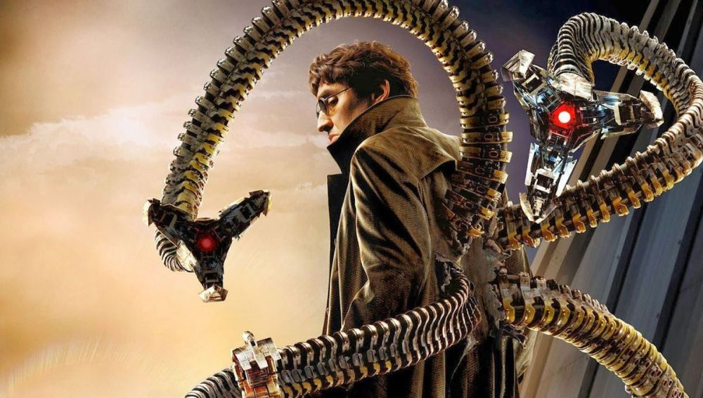 Alfred Molina en el papel de Doctor Octupus, uno de los mayores villanos de la saga, en 'Spiderman 2' (2004)