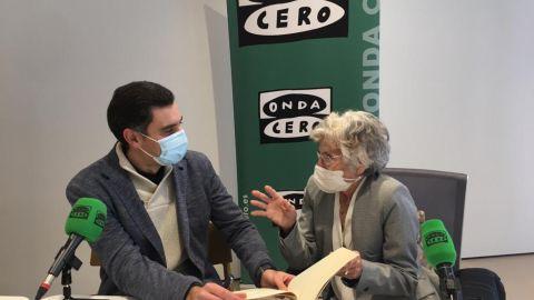 María Victoria Troncoso junto a Javier Barbero