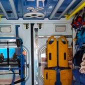 Interior de una ambulancia de Soporte Vital Básico Avanzado.