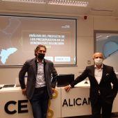 Rafael Ballester y Perfecto Palacio presientes de INECA y CEV-Alicante, respectivamente