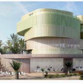 Vista simulada del Edificio La Valona proyectado en la Universidad Miguel Hernández de Elche.