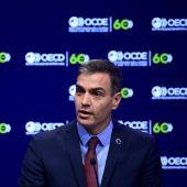 Pedro Sánchez, en la jornada de inauguración del 60 aniversario de la OCDE