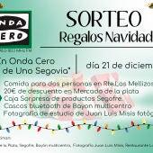 Sorteo de regalos en Más de Uno Segovia