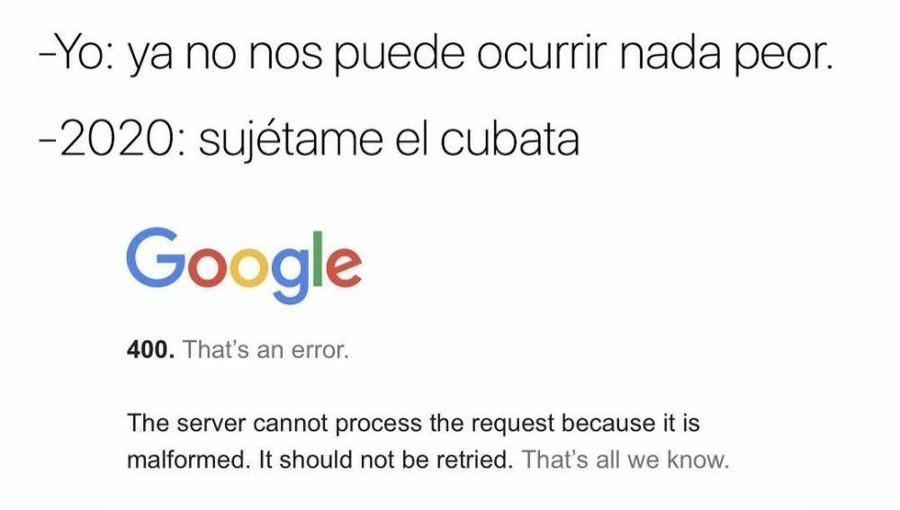 Meme de la caída de Google.
