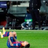 Philippe Coutinho, tras lesionarse