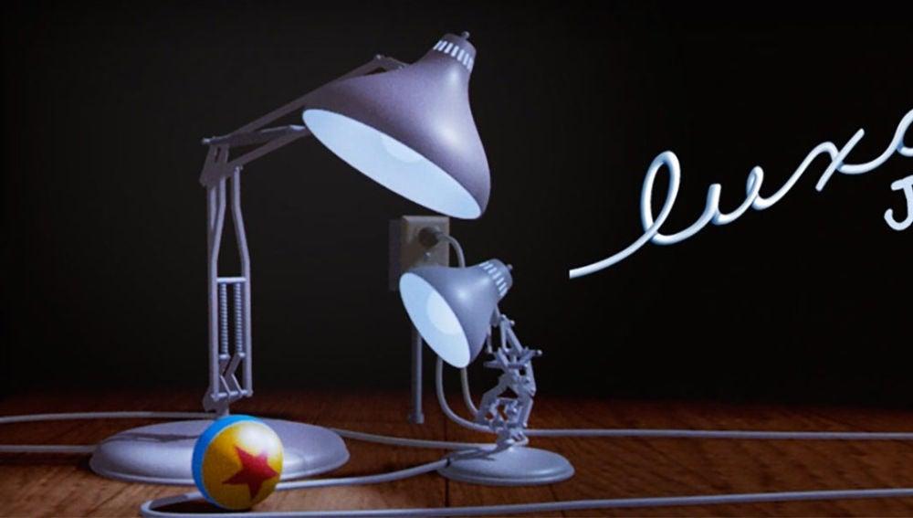 Cartel del cortometraje 'Luxo Jr.', la primera película de Pixar, que dura poco más de minuto y medio y fue dirigida por John Lasseter en 1986
