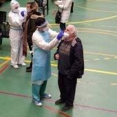 Imagen de archivo de un cribado masivo llevado a cabo en Palma por la conselleria de salud.
