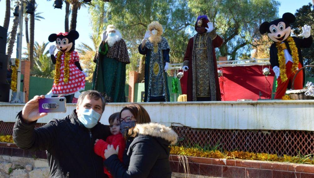 Los Reyes Magos en La Rotonda del Parque Municipal de Elche.