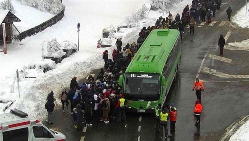 Nuevos colapsos en la carretera de acceso a Navacerrada