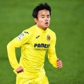 Kubo, en un partido con el Villarreal.
