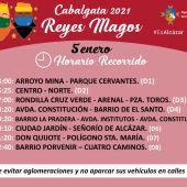 Reyes Magos 2021 (horarios e itinerarios)