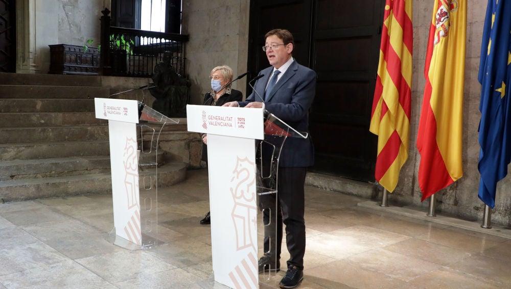 Ximo Puig, president de la Generalitat, y Ana Barceló, consellera de Sanitat.