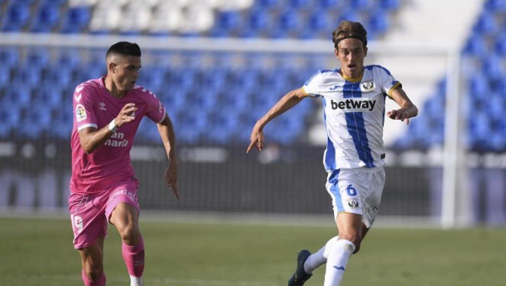 El jugador del CD Leganés, Sergio González